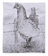 Mrs. Hen Fleece Blanket