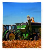 Mrs John Deere Fleece Blanket