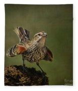 Mrs. Red Winged Blackbird Fleece Blanket