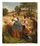 Mrs Schuyler Burning Her Wheat Fields Fleece Blanket
