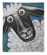 Mrs Sheep Fleece Blanket