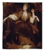 Mrs Siddons As The Tragic Muse Fleece Blanket