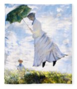 Ms Monet Blown Away  Fleece Blanket