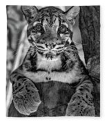 Ms Paws Monochrome Fleece Blanket