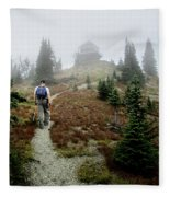 Mt Brown Lookout - Glacier National Park Fleece Blanket