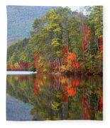 Mt. Chocorua Reflections II Fleece Blanket