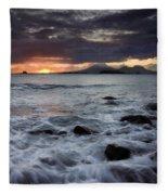 Mt. Edgecumbe Sunset Fleece Blanket