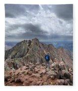 Mt Eolus And The Catwalk From North Eolus - Chicago Basin - Weminuche Wilderness - Colorado Fleece Blanket