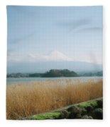 Mount Fuji View Fleece Blanket