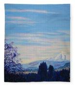 Mt Hood A View From Gresham Fleece Blanket