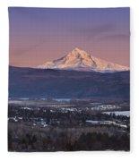 Mt. Hood From Camas Fleece Blanket