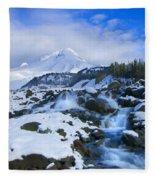 Mt. Hood Morning Fleece Blanket