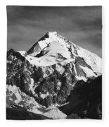 Mt Huayna Potosi In Monochrome Fleece Blanket