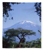 Mt. Kilimanjaro,moshi,tanzania Fleece Blanket