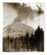 Mt. Lassen In Eruption Oct. 6, 1915 Fleece Blanket