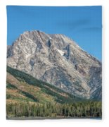 Mt Moran At The Grand Tetons Fleece Blanket