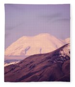 Mt Rainer From The Wenas Valley  Fleece Blanket