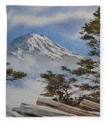 Mt. Rainier Landscape Fleece Blanket