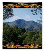 Mt Tamalpais Framed 1 Fleece Blanket