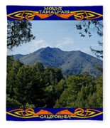 Mt Tamalpais Framed 2 Fleece Blanket