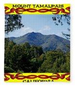 Mt Tamalpais Framed 4 Fleece Blanket