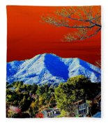 Mt Tamalpais From Another World Fleece Blanket