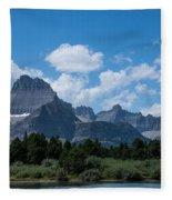 Mt Wilbur In Glacier National Park Fleece Blanket