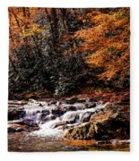 A Warm Fall Day Fleece Blanket