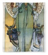 Mucha: Theatrical Poster Fleece Blanket