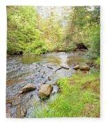 Mud Run, Pennsylvania, Pocono Mountain Stream Fleece Blanket