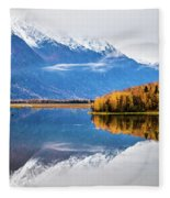 Mudd Lake Reflections Fleece Blanket
