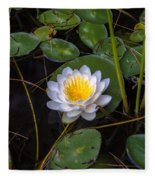 Mudd Pond Water Lily Fleece Blanket