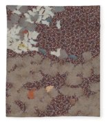 Muddy Footprints Over A Carpet Fleece Blanket