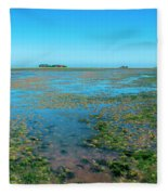 Mudflat Near Hooge Fleece Blanket
