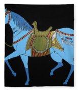 Mughal Horse Fleece Blanket