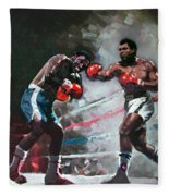 Muhammad Ali And Joe Frazier Fleece Blanket