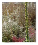 Mullin And Other Springtime Wildflowers Fleece Blanket