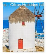 Multi Centre Greek Island Holidays Fleece Blanket