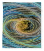 Multi Color Line Art Blue Yellow Gray Green Fleece Blanket