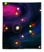 Multi-colored Constellation  Fleece Blanket