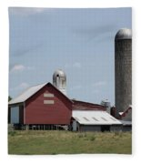 Multi Silo Farm Fleece Blanket