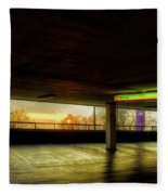 Multi-storey Sunset Fleece Blanket