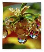 Multicolored Drops Fleece Blanket