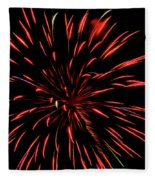 Multicolored Fireworks 2 Fleece Blanket