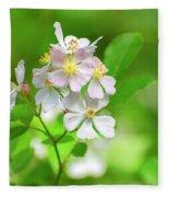 Multiflora Rose Fleece Blanket