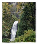 Multnomah Falls 3 Fleece Blanket