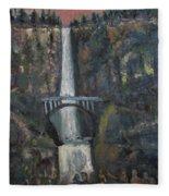 Multnomah Falls, Oregon Fleece Blanket