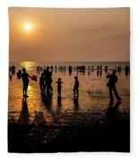 Mumbai Sunset Fleece Blanket
