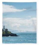 Mumbles Lighthouse 2 Fleece Blanket