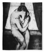 The Kiss, 1895 Fleece Blanket